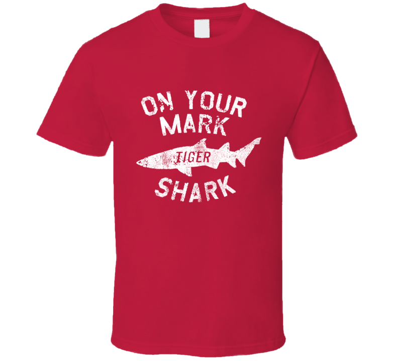 On Your Mark Tiger Shark Fun Viral Barron Trump Popular Graphic T Shirt