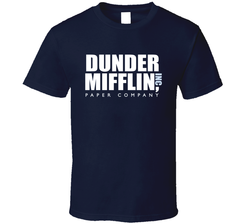 Dunder Mifflin Inc Paper Company Fun The Office Graphic Tv Show T Shirt