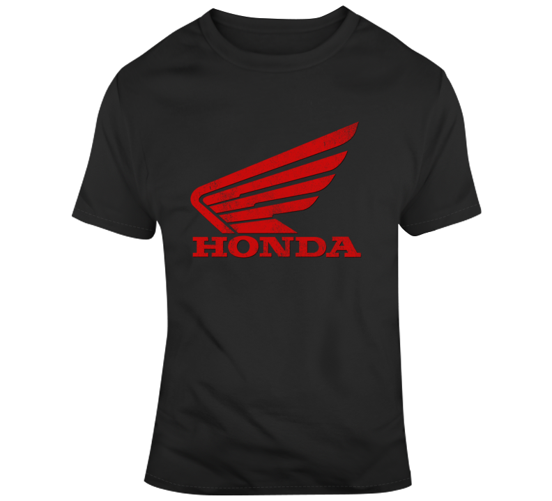Vintage Honda Motorcycles Distressed Graphic Logo T Shirt