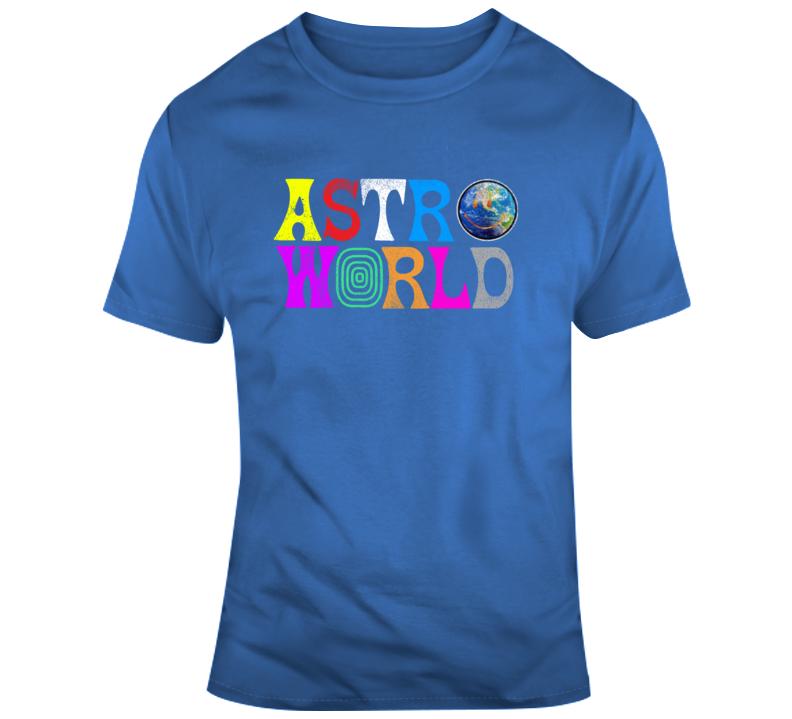 Astroworld Vintage Style Hip Hop Graphic Rap Merch T Shirt