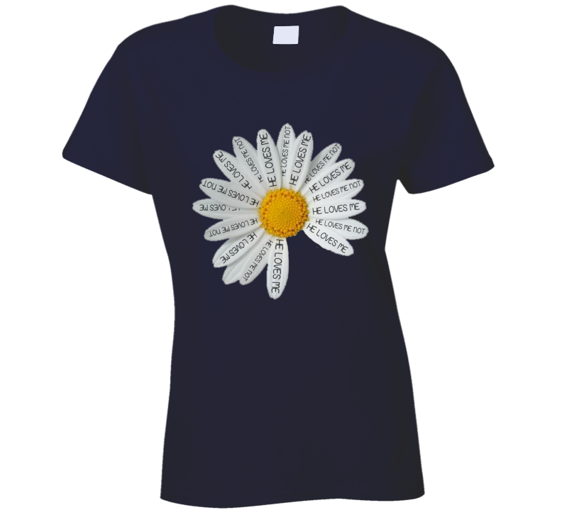 Daisy He Loves Me Cute Graphic Tee Shirt