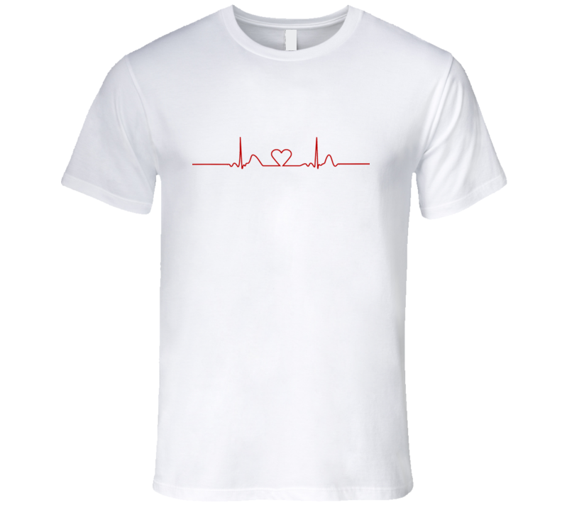 Heart Rate Monitor Fun Medical Tee Shirt