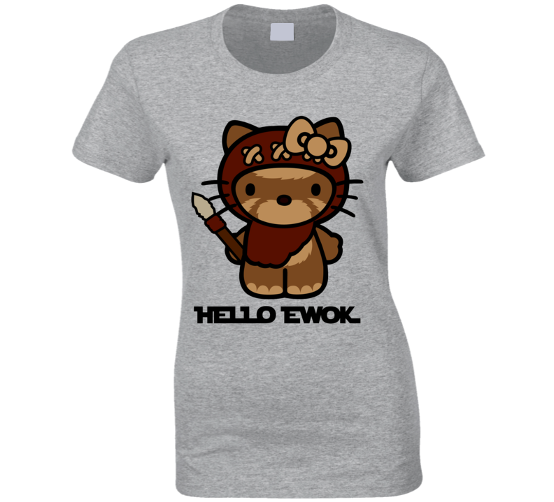 Hello Ewok Cute Funny Star Wars Cartoon Parody T Shirt