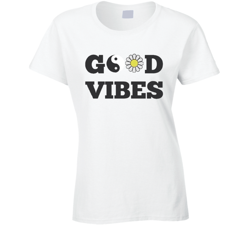 Good Vibes Peace Flower Graphic Tee Shirt