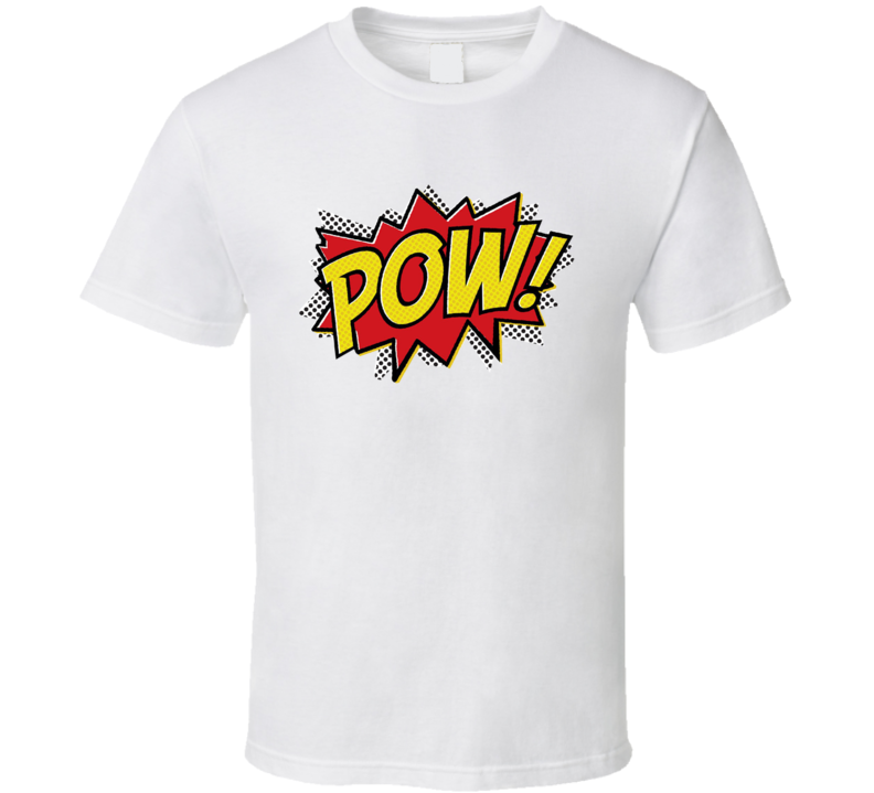 Comic POW! Fun Burst Graphic Tee Shirt