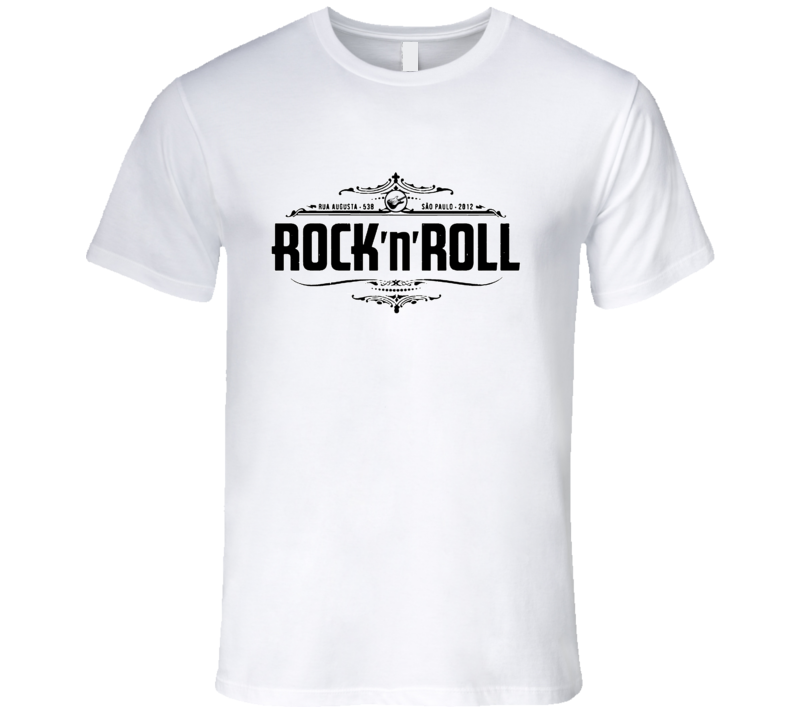 Rock N Roll Guitar Vintage Style Graphic Tee Shirt