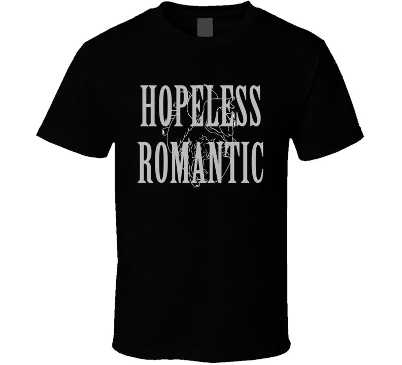 Hopeless Romantic Anatomical Heart Graphic Tee Shirt