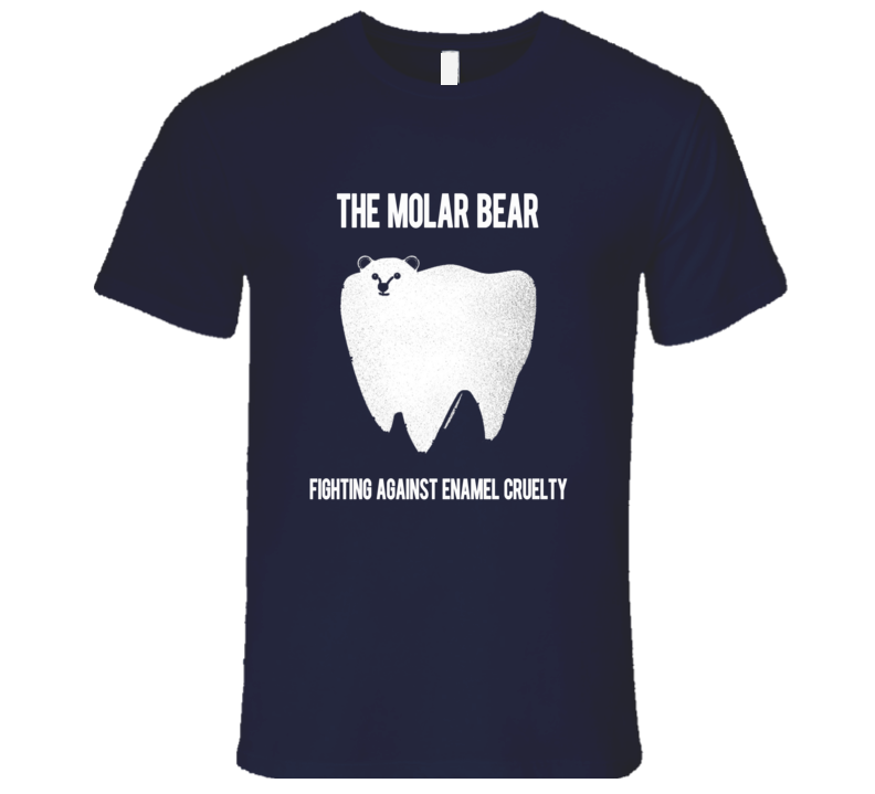 The Molar Bear Funny Enamel Cruelty Graphic Tee Shirt