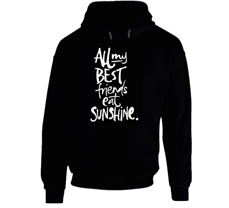 All My Best Friends Eat Sunshine Fun Graphic Pullover Hoodie