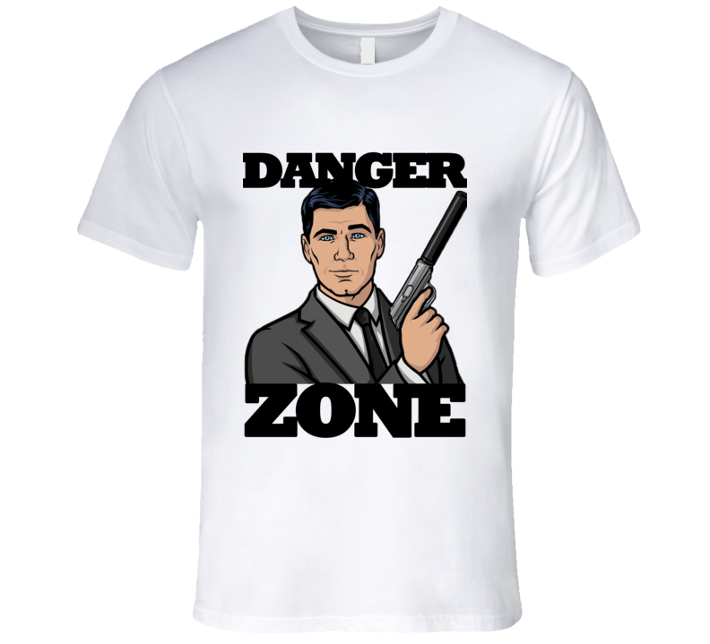 Danger Zone Funny Archer Quote Graphic T Shirt