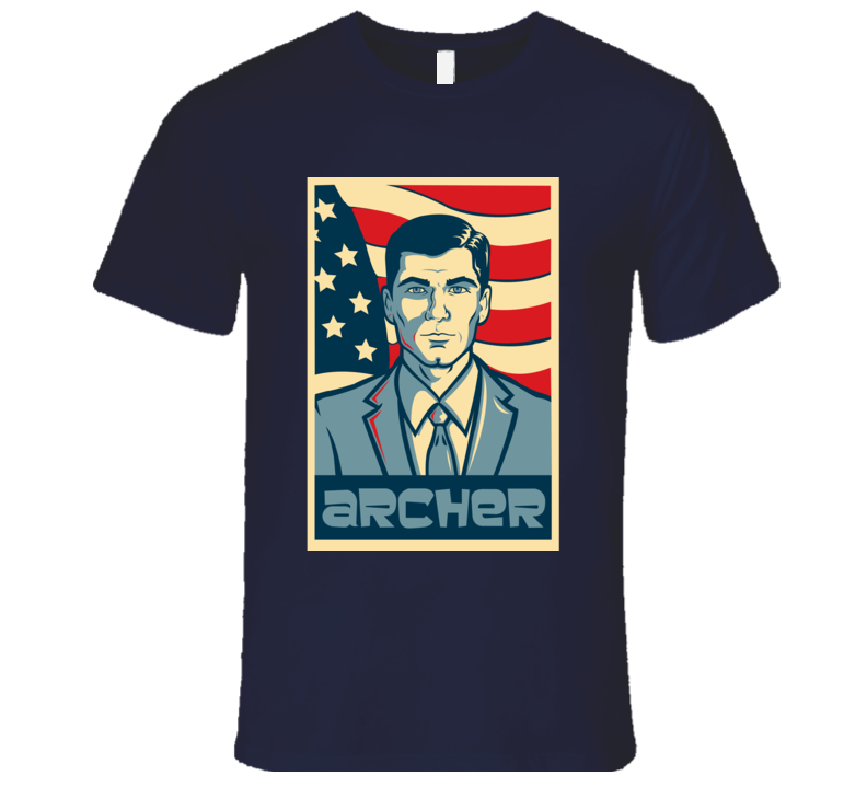 Archer American Hope Style Poster Fun Graphic T Shirt