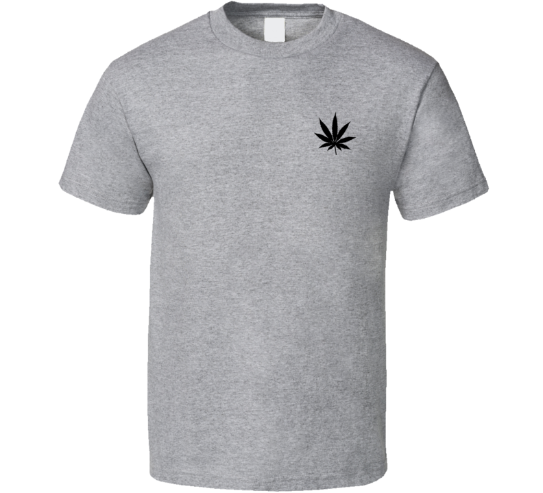 Marijuana Cannabis Leaf Fun Weed Simple Graphic T Shirt