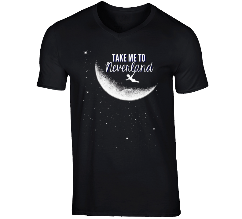 Take Me To Neverland Fun Peter Pan Popular Graphic Movie T Shirt