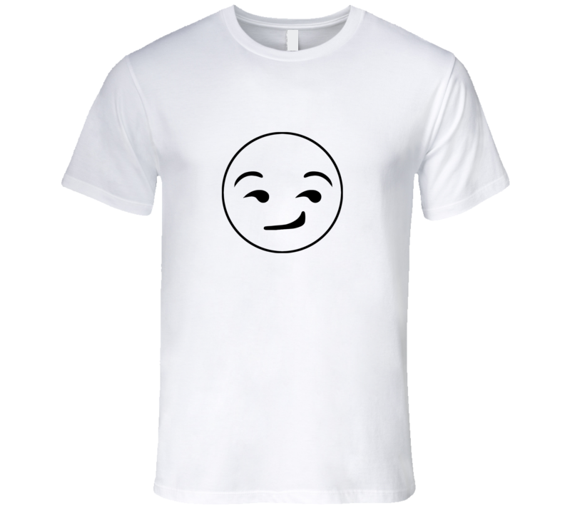Smirking Emoji Face Cute Fun Text Graphic T Shirt