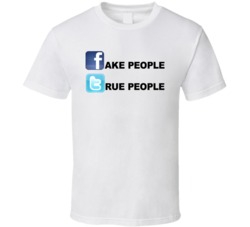 Fake People True People Social Viral Media Funny T Shirt