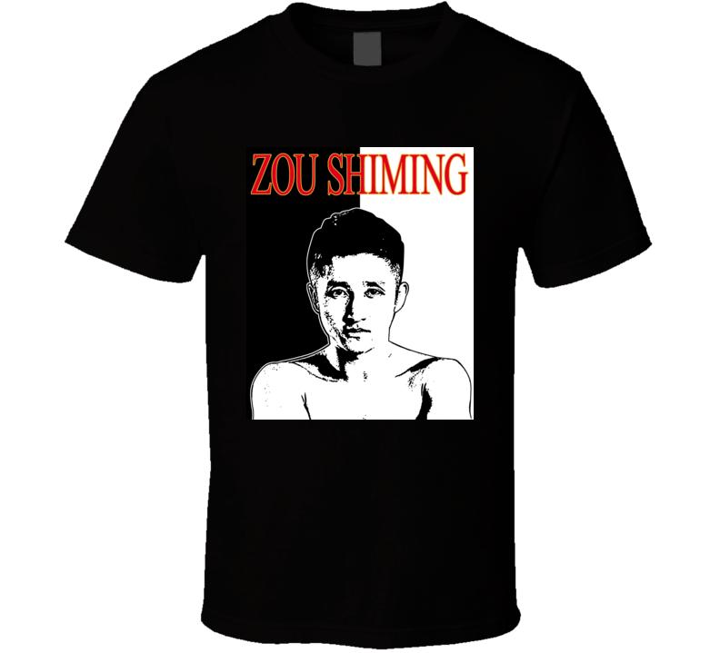 Zou Shiming China Boxer Chinese Boxing Mandarin Gold Medal T Shirt