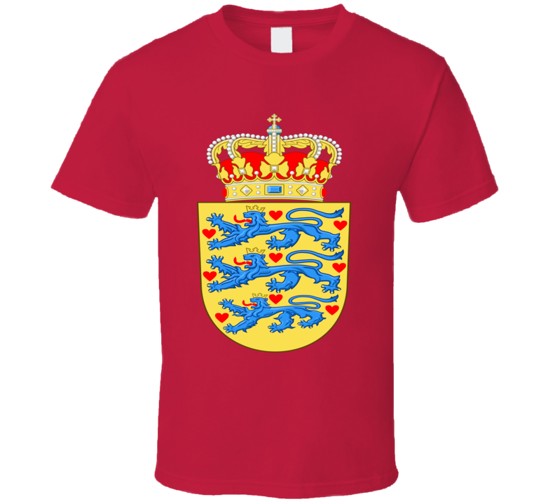 denmark danish coat of arms t shirt