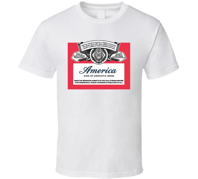 America Beer Budweiser Name Change T Shirt