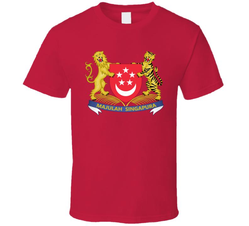 Singapore Coat Of Arms T Shirt