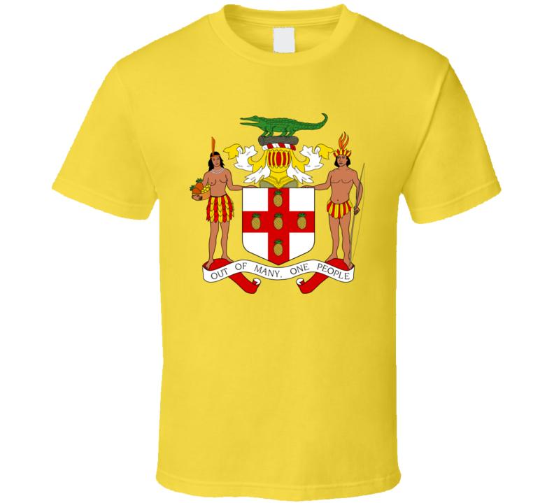 Jamaica Jamaican Coat Of Arms T Shirt