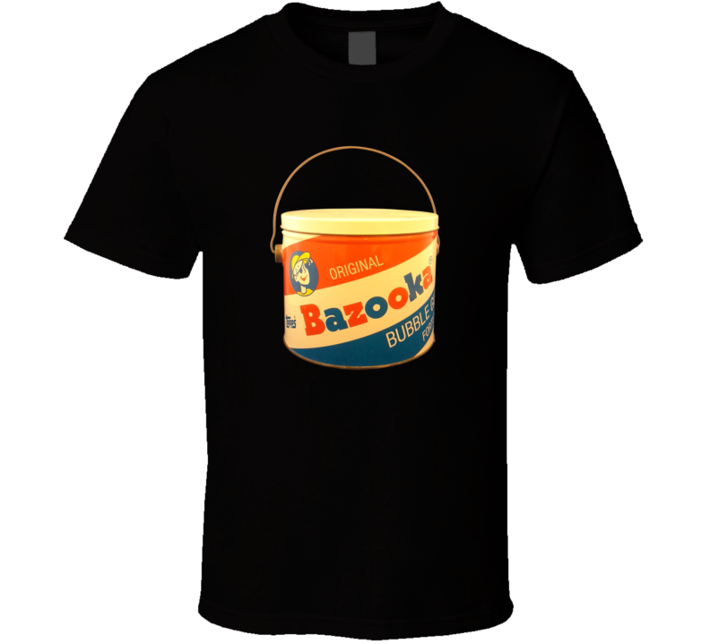 Original Bazooka Joe Bubble Gum Bucket Vintage Retro Gum Candy Fan T Shirt