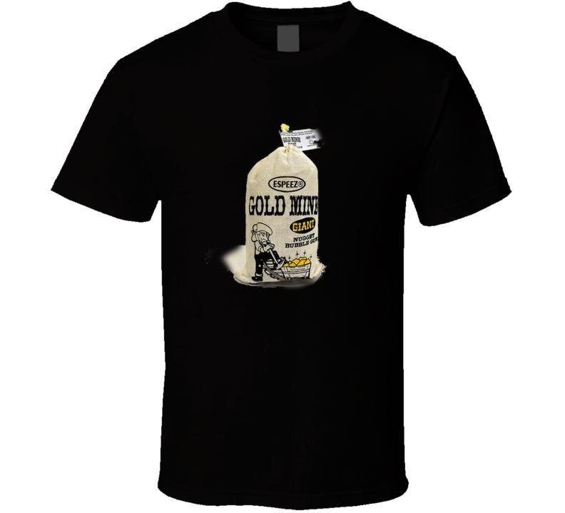 Espeez Gold Mine Nugget Bubble Gum Retro Vintage Gum Candy Fan T Shirt