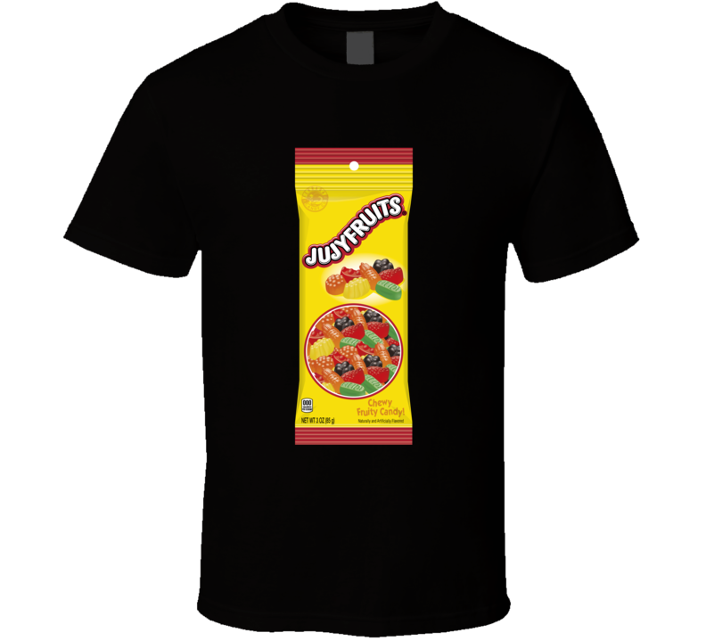 Jujy Fruits Novelty Retro Candy Fan T Shirt