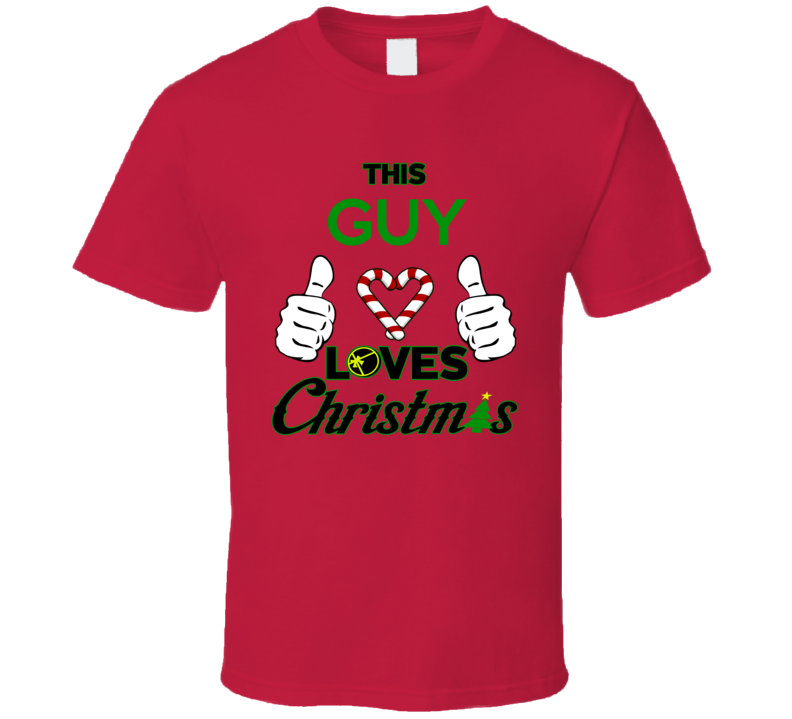 This Guy Loves Christmas Holiday Fun Fan T Shirt