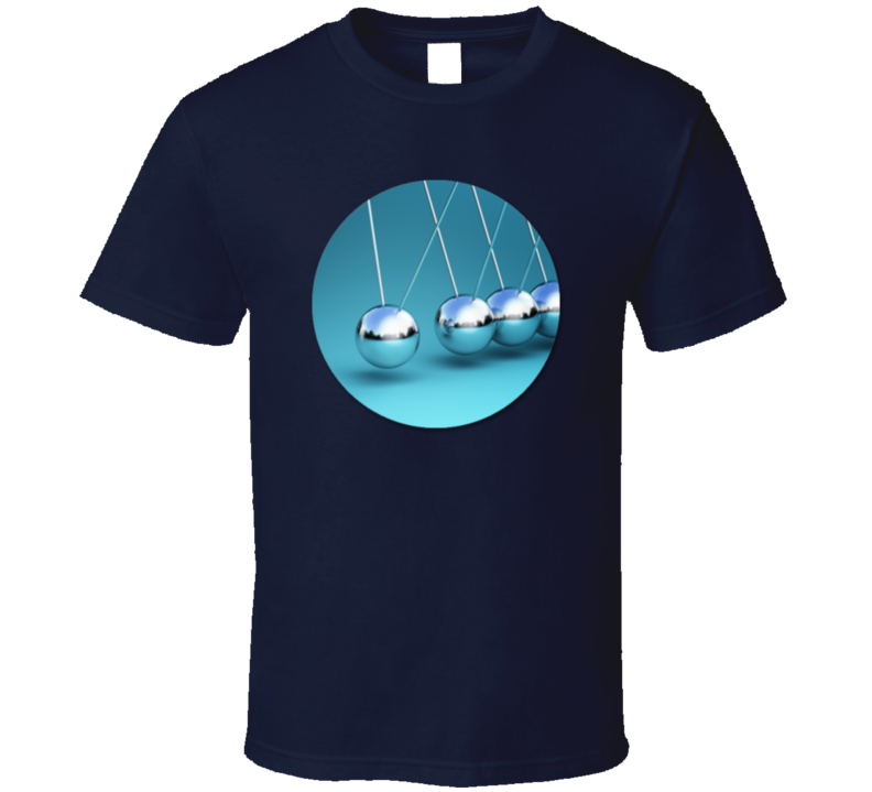 Newtons Cradle Physics Science Geek Fan T Shirt