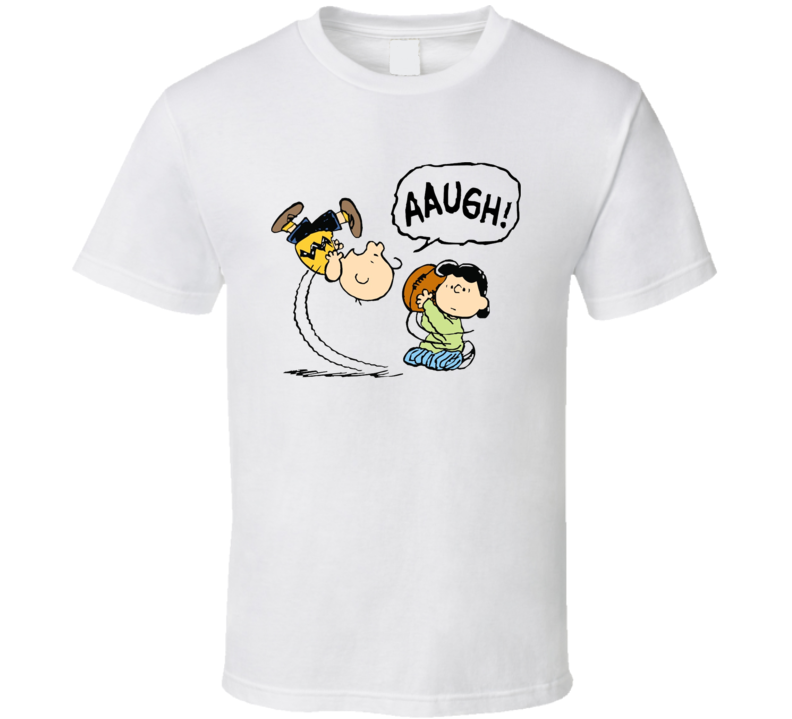 Charlie Brown Lucy Funny Football T Shirt