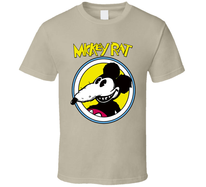 Mickey Rat Funny Parody Mouse Cartoon Retro T Shirt