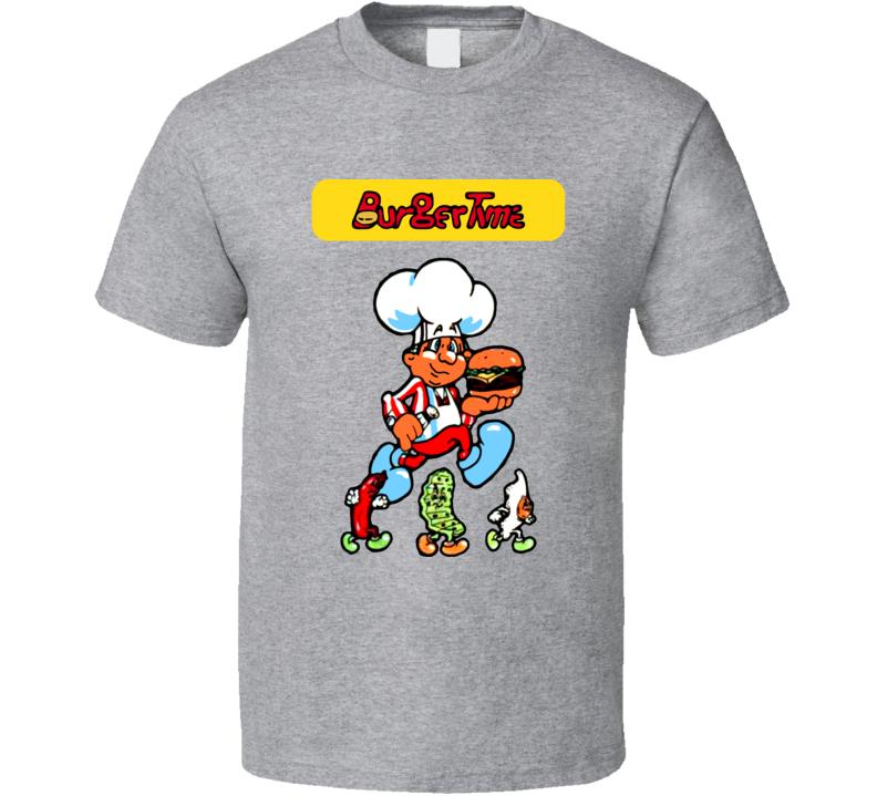 Burger Time Retro 80s Arcade Video Game T Shirt