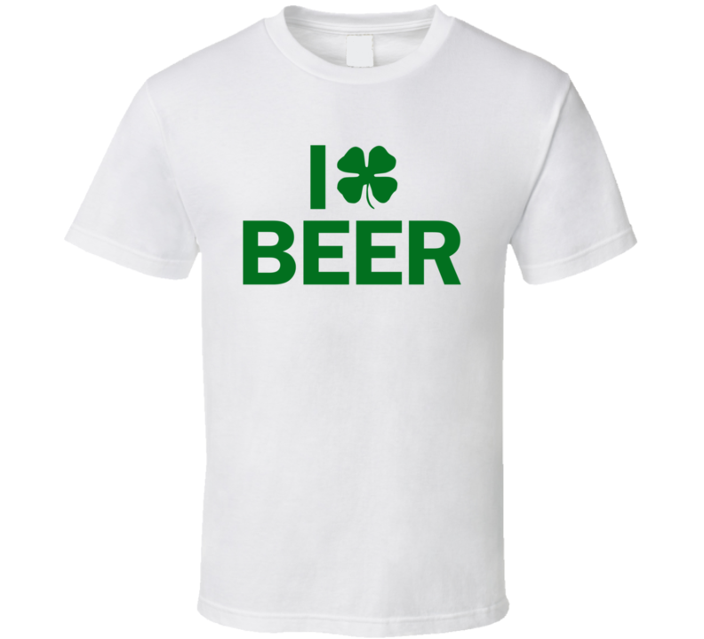 I Clover Beer St. Patrick's Day Holiday Fan T Shirt
