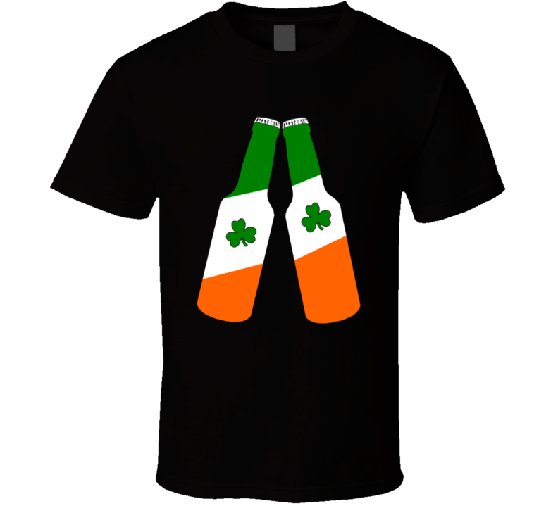 Irish Flag Colour Beers St. Patrick's Day Fan T Shirt