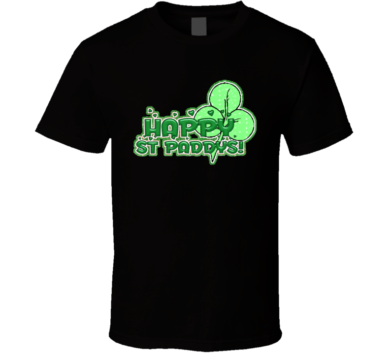 Happy St. Paddy's St. Patrick's Holiday Fan T Shirt