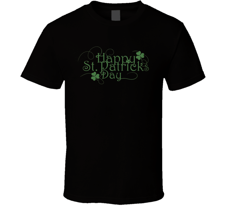 Happy St. Patrick's Day Holiday Fan T Shirt