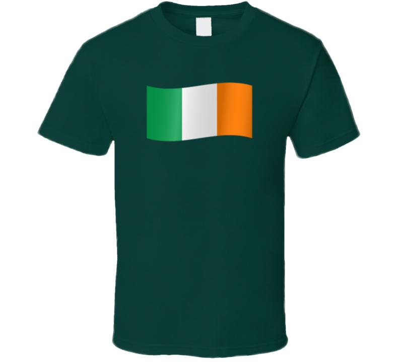 Irish Flag St. Patrick's Day Holiday Fan T Shirt