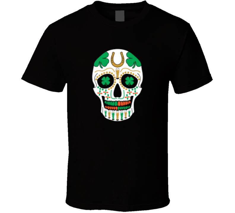 St. Patrick's Day Skull Holiday Fan T Shirt