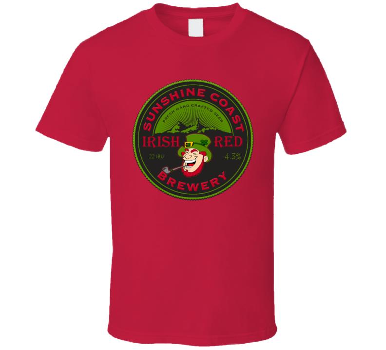 Sunshine Coast Irish Red Brewery St. Patrick's Day Holiday Fan T Shirt
