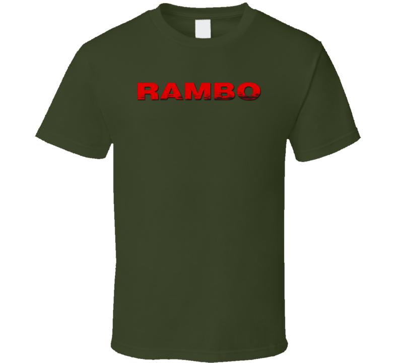 Rambo Stallone Movie Fan T Shirt