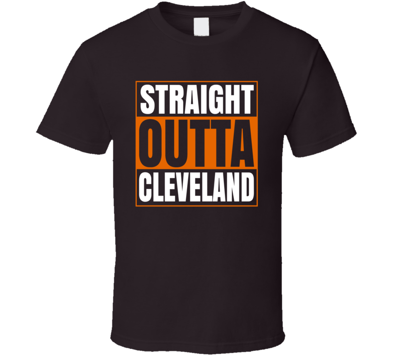 Straight Outta Cleveland Odell Beckham Jr Football T Shirt