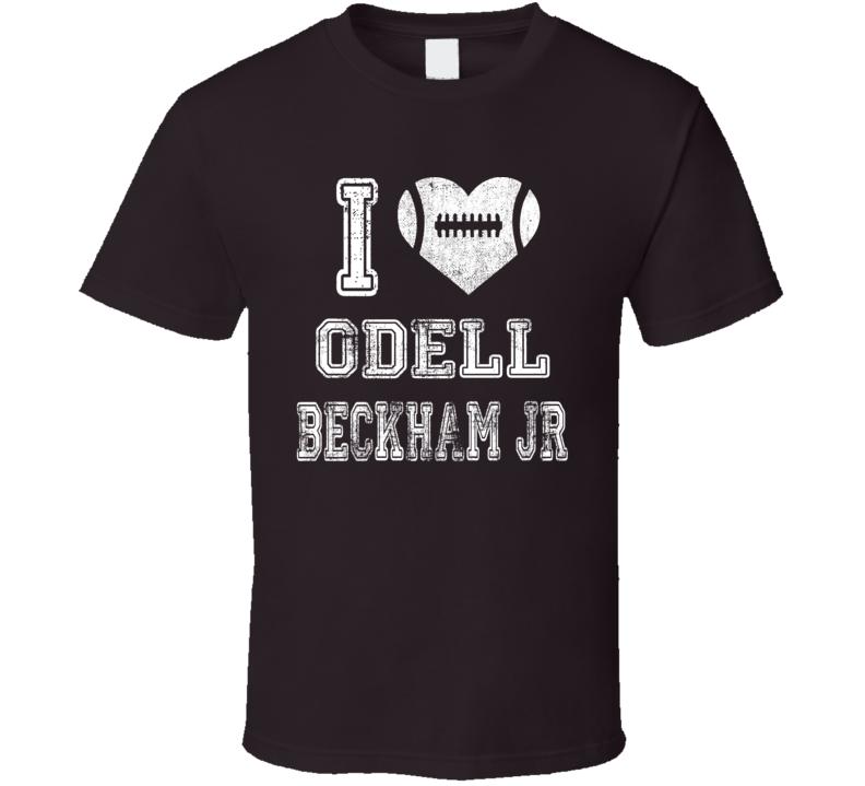 I Heart Odell Beckham Jr Cleveland Football T Shirt
