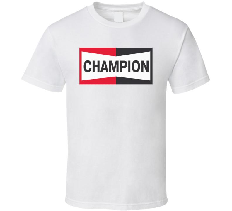 Brad Pitt Inspired Look Champion Spark Plug T Shirt