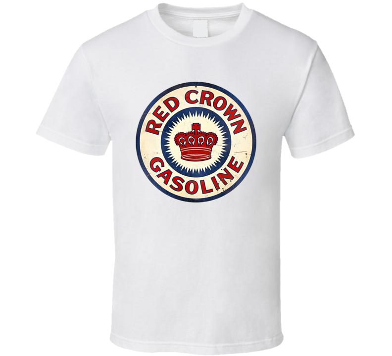 Red Crown Gasoline Retro Automotive T Shirt