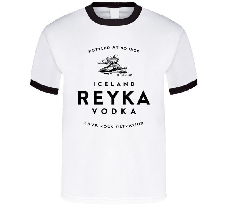 Reyka Vodka Iceland Glacier Drink Alcohol T Shirt T Shirt
