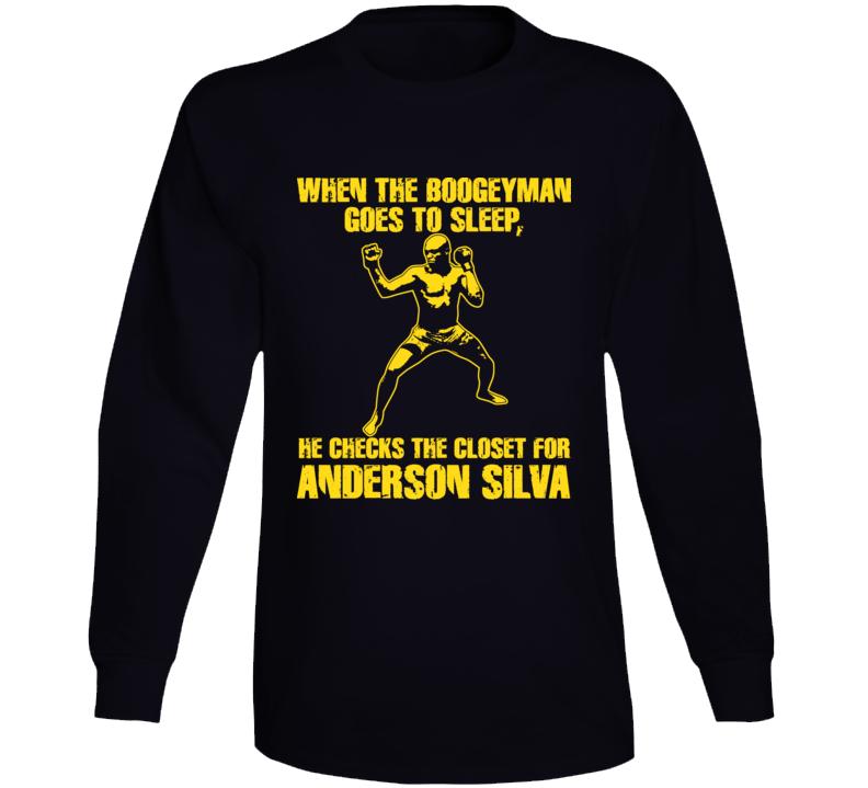 Anderson Silva Mma Ultimate Fighter Brazil T Shirt T Shirt Long Sleeve