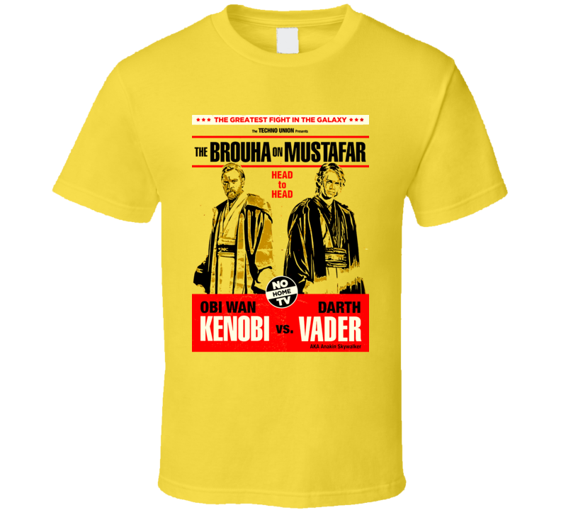 Obi Wan Kenobi Darth Vader Jedi Star Wars T Shirt