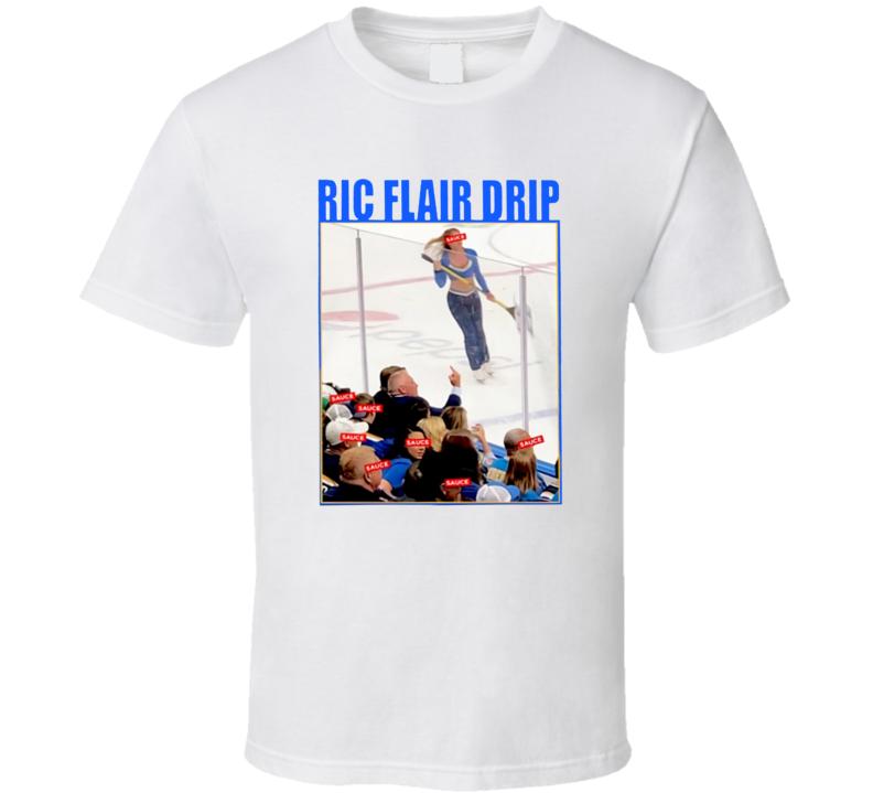Brett Hull Wearing Ric Flair Drip T Shirt