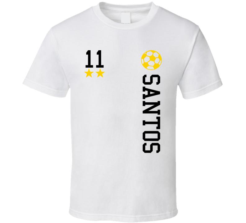 Neymar Jr Soccer Football Pele Futbal Santos Brazil Brazilian T Shirt