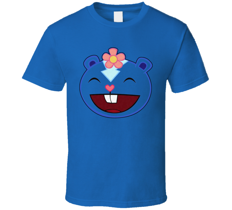 The Happy Tree Friends Cartoon Animated Petunia Blue T Shirt